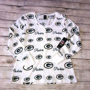NFL Team Apparel Packers Sleepwear Long Sleeve Top